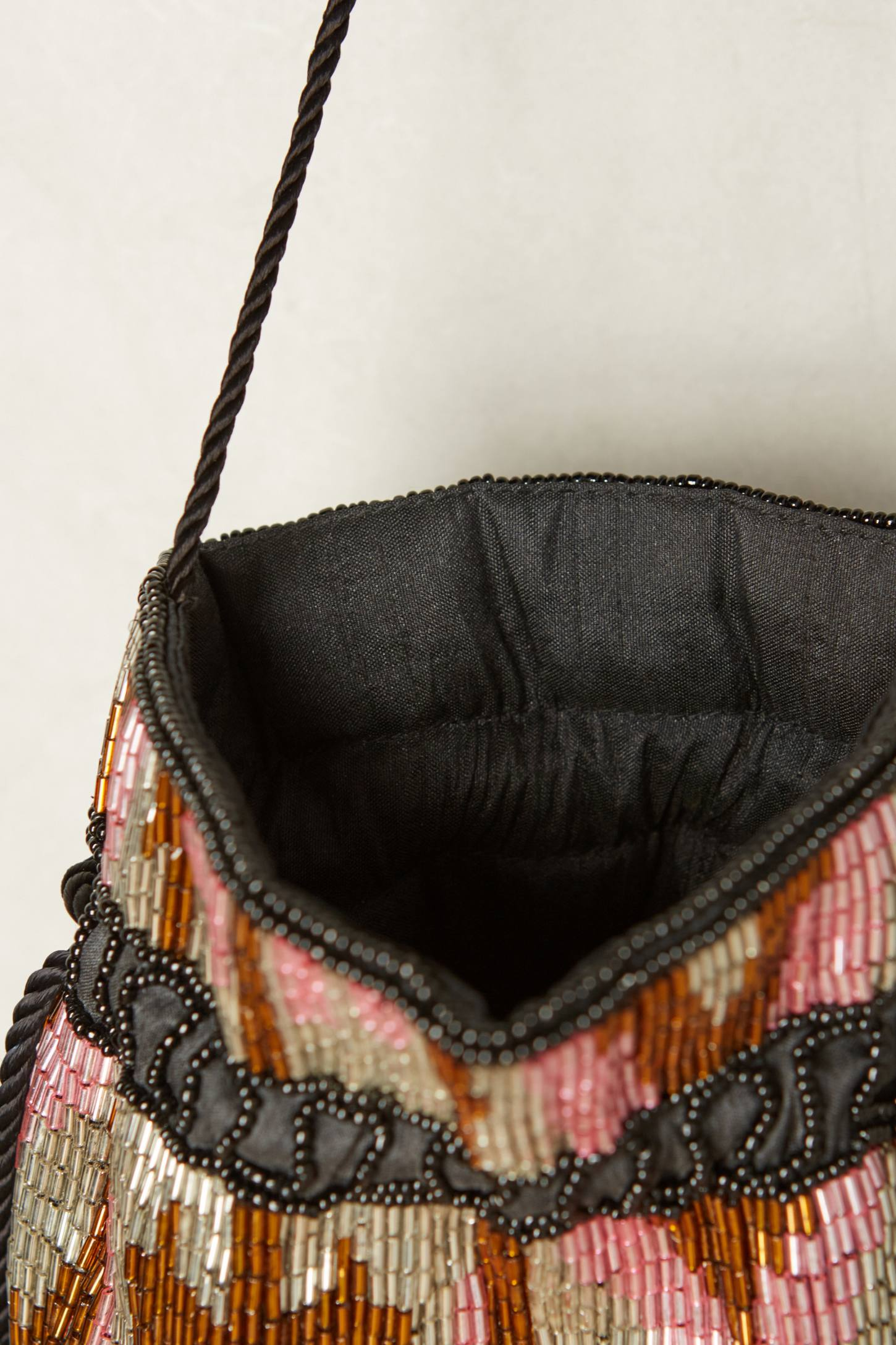 Slide View: 3: Beaded Diamond Bucket Pouch