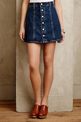 Alexa Chung for AG Button-Front Denim Skirt | Anthropologie
