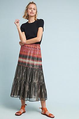 Slide View: 1: Daramone Metallic Skirt