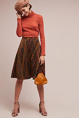 Slide View: 1: Zoila Metallic Skirt