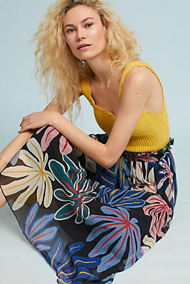 Slide View: 1: Groovy Floral Skirt