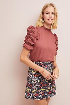 Slide View: 1: Corey Lynn Calter Floral Mini Skirt