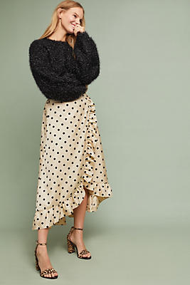 Slide View: 1: Corey Lynn Calter Polka Dot Skirt