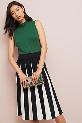 Slide View: 1: Pleated Contrast Skirt