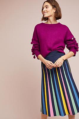 Slide View: 1: Rainbow Pleated Contrast Skirt