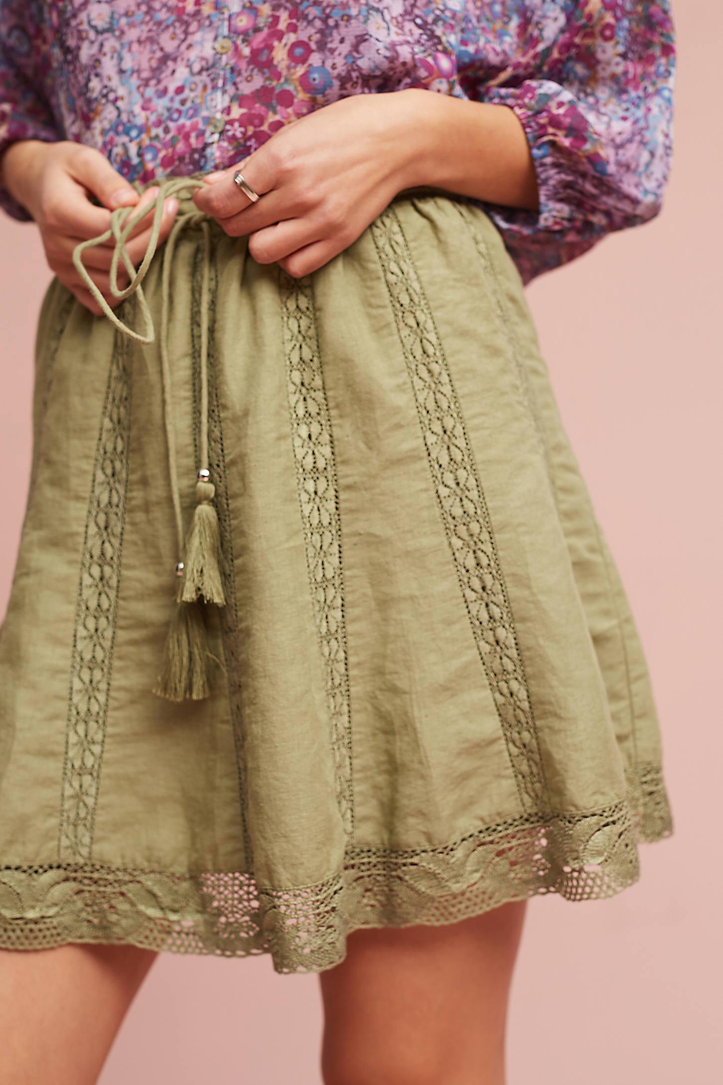 Lace Hem Skirt