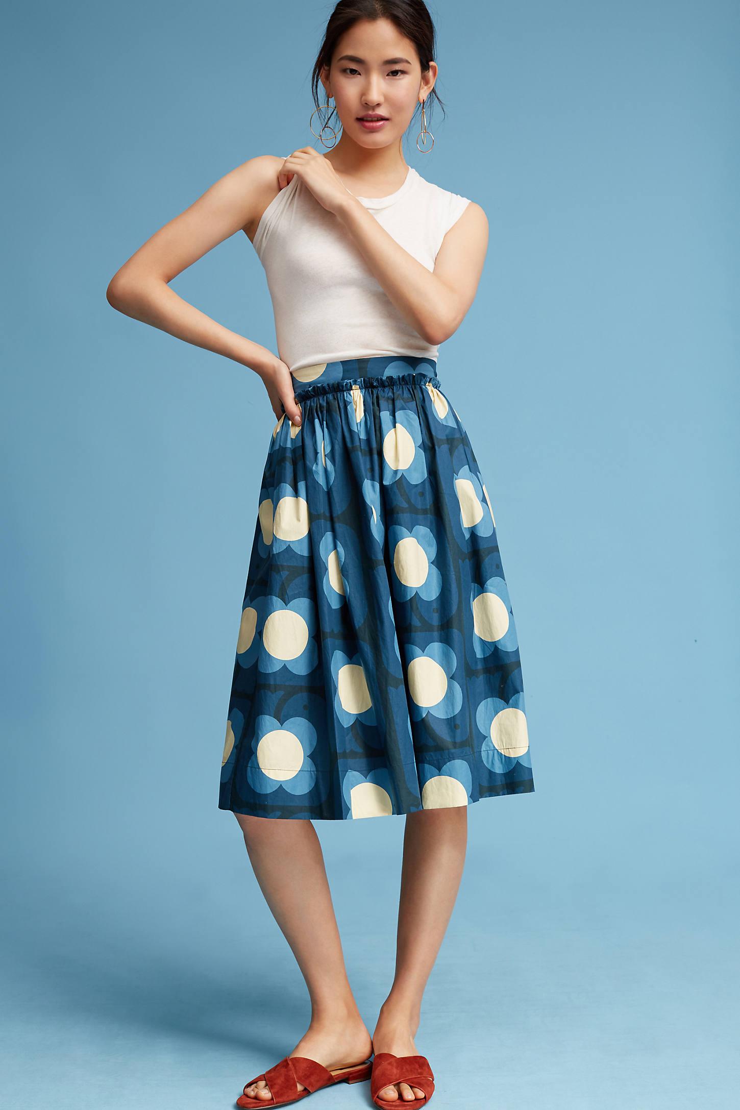 Pleated Daisy Skirt