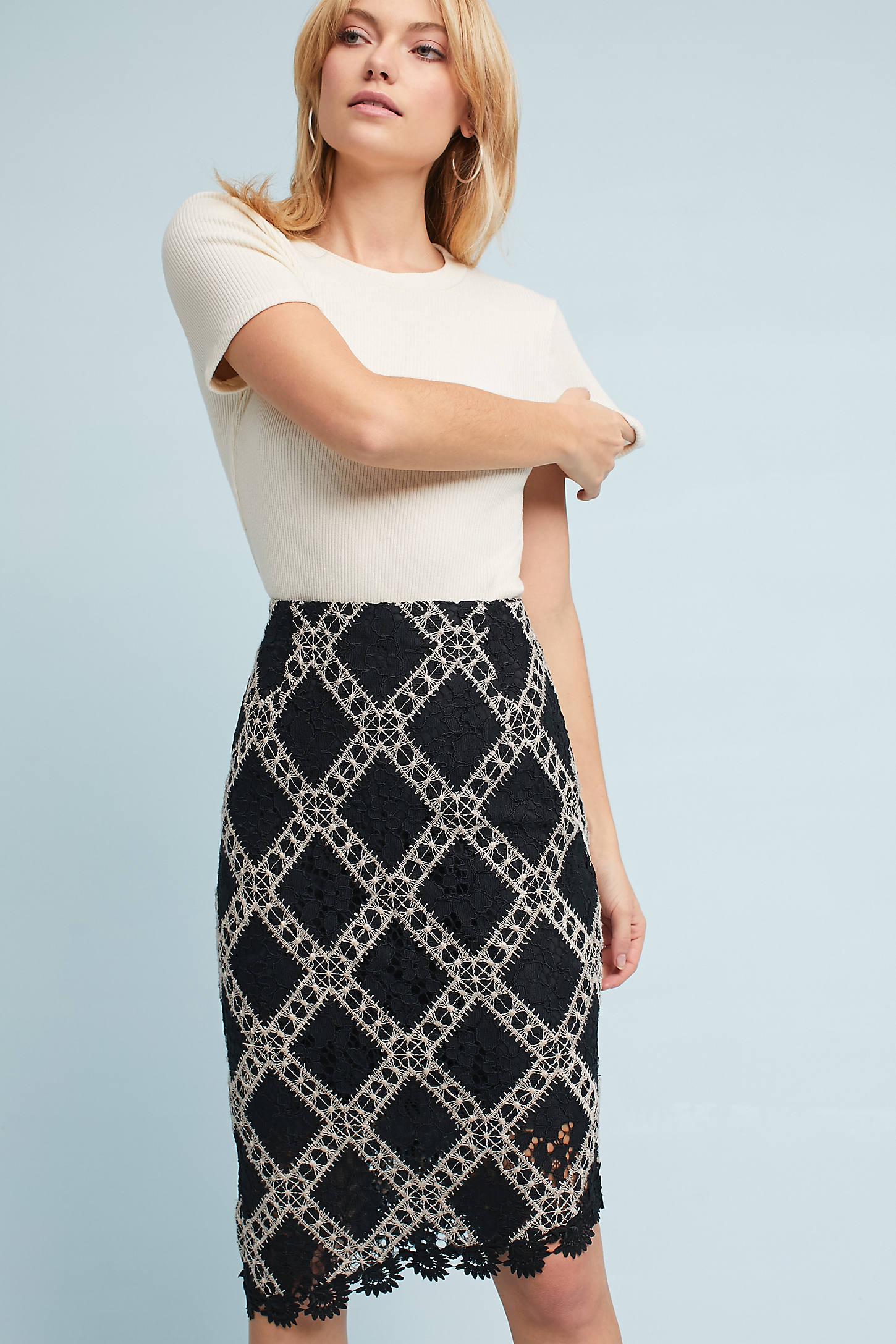 Asymmetrical Lace Skirt