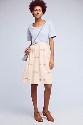 Slide View: 1: Berdine Ikat-Printed Skirt