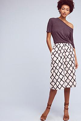 Slide View: 1: Berdine Diamond-Printed Skirt