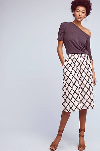 Berdine Diamond-Printed Skirt