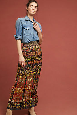 Slide View: 1: Anna Sui Pleated Maxi Skirt