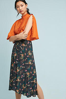 Slide View: 1: Butterfly Wrapped Skirt