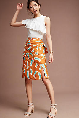 Slide View: 1: Edessa Printed Skirt