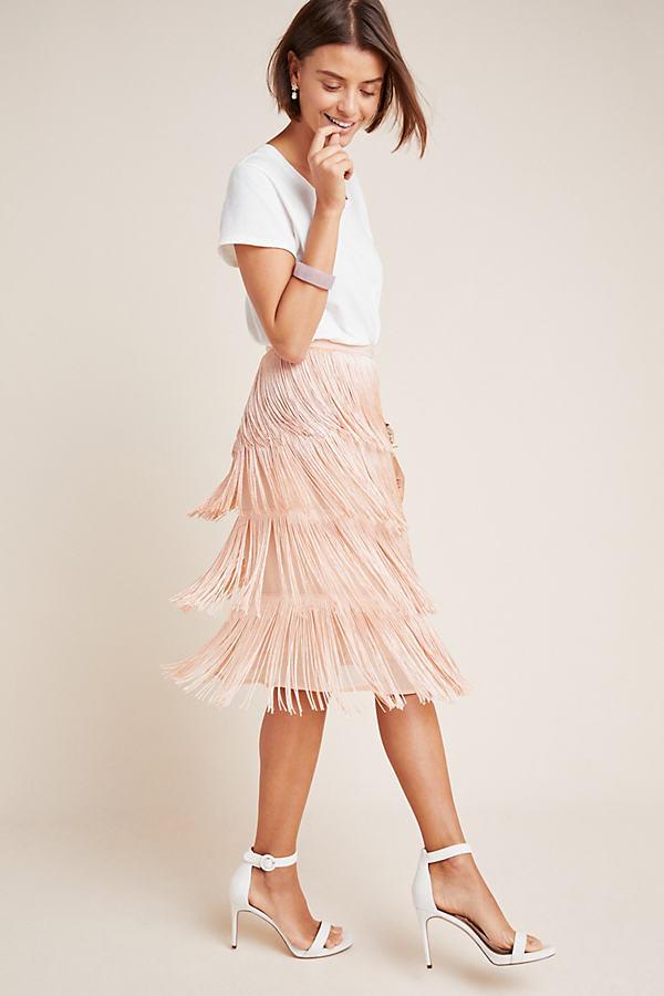 Velma Midi Skirt - Orange, Size Uk 6
