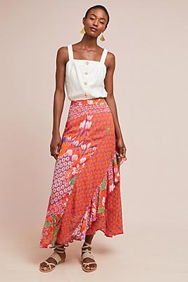 Slide View: 1: Ginza Ruffled Maxi Skirt