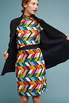 Slide View: 1: Geometric Pencil Skirt