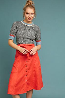 Slide View: 1: Faithfull Linen Skirt