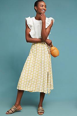 Slide View: 1: Faithfull Daisy Wrap Skirt