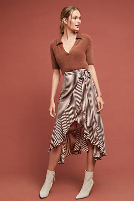 Slide View: 1: Faithfull Georgia Striped Skirt