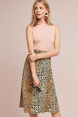 Slide View: 1: Faithfull Valois Leopard Wrap Skirt