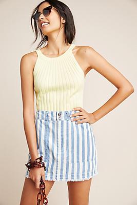 Slide View: 1: Bathsheba Striped Mini Skirt