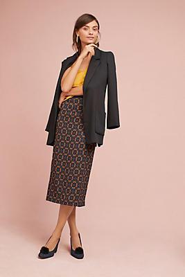 Slide View: 1: Tracy Reese Silk Slim Midi Skirt