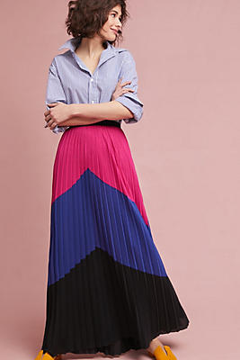 Slide View: 1: Tracy Reese Pleated Maxi Skirt