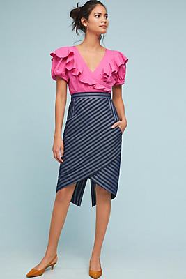 Slide View: 1: Tracy Reese Linear Pencil Skirt