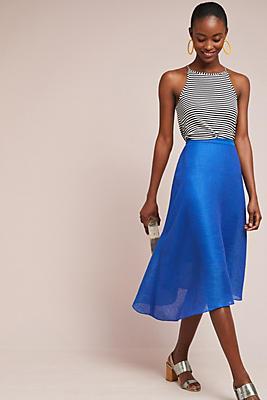 Slide View: 1: Tracy Reese Asymmetrical Midi Skirt