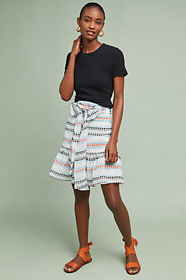 Slide View: 1: Linda Striped Skirt