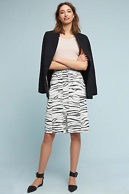 Slide View: 2: Zebra-Printed Skirt