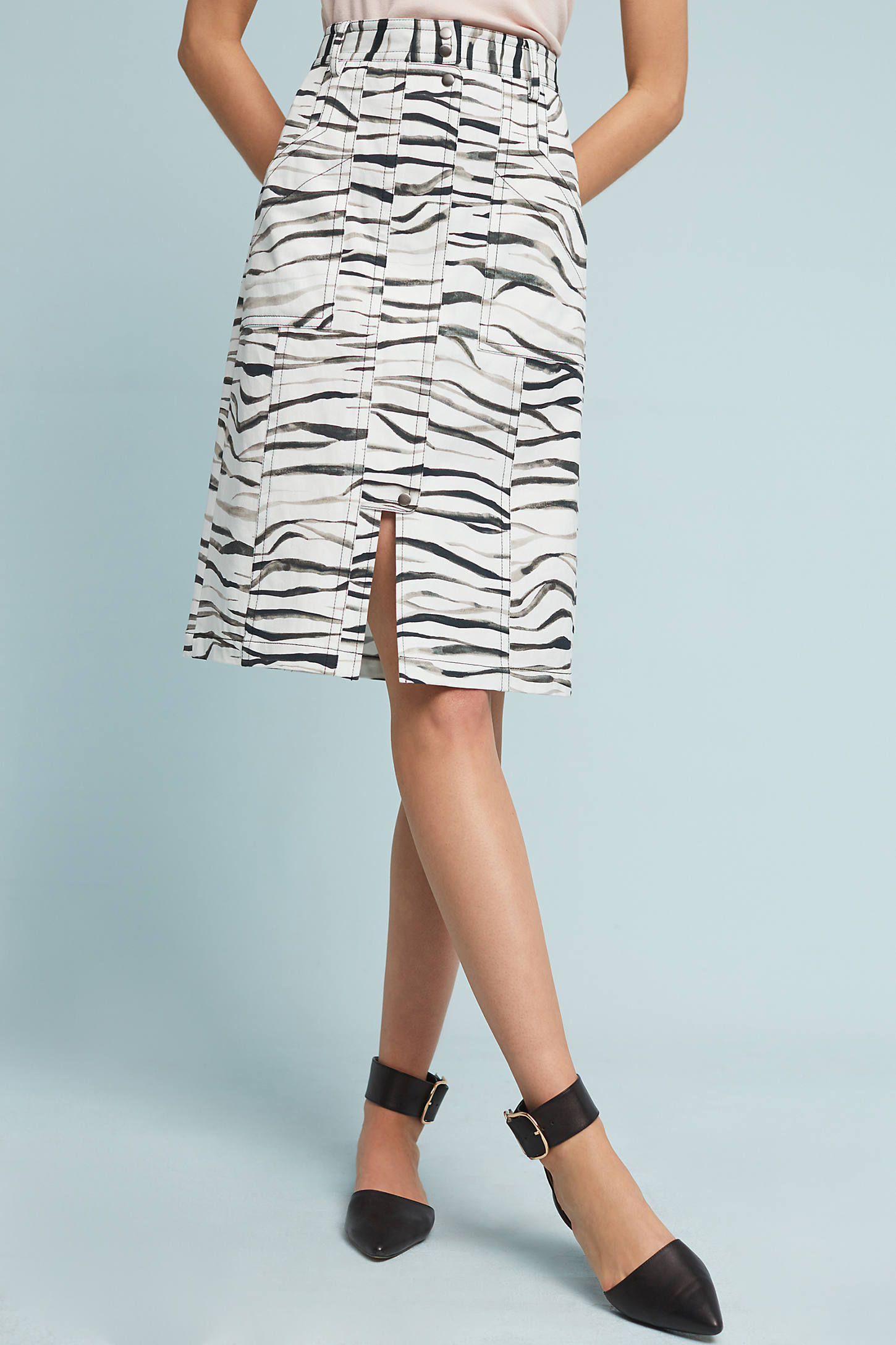 Zebra-Printed Skirt