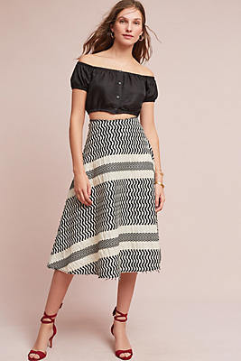 Slide View: 1: Stripework Skirt