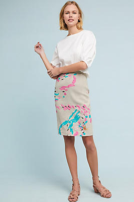 Slide View: 1: Albury Textured Pencil Skirt