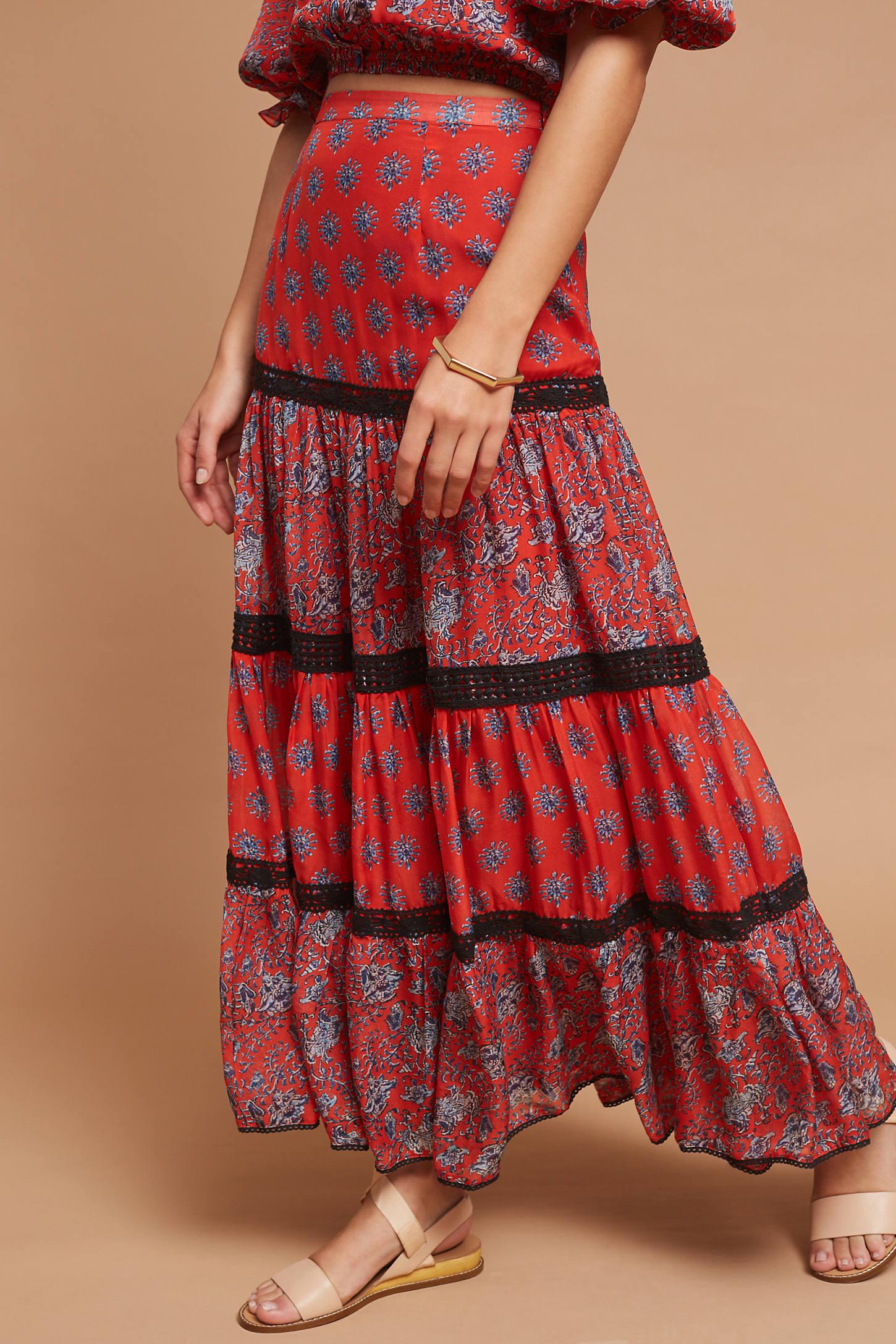 Gia Silk Maxi Skirt