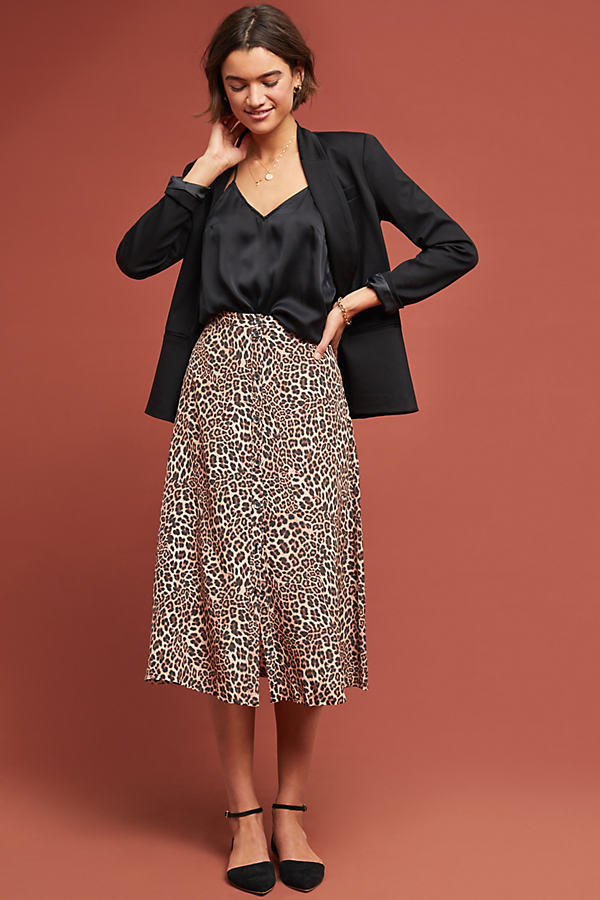 Kachel Rhonda Leopard-Print Skirt - Assorted, Size Uk 10