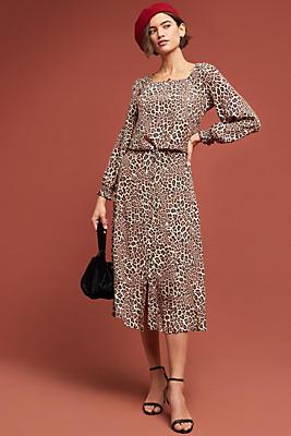 Slide View: 1: Eva Leopard Skirt