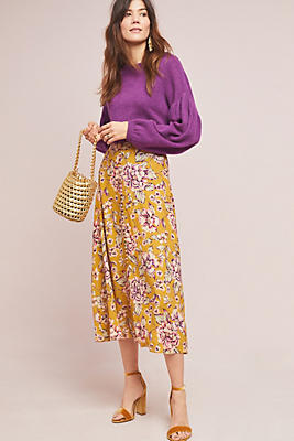 Slide View: 1: Thea Floral Skirt