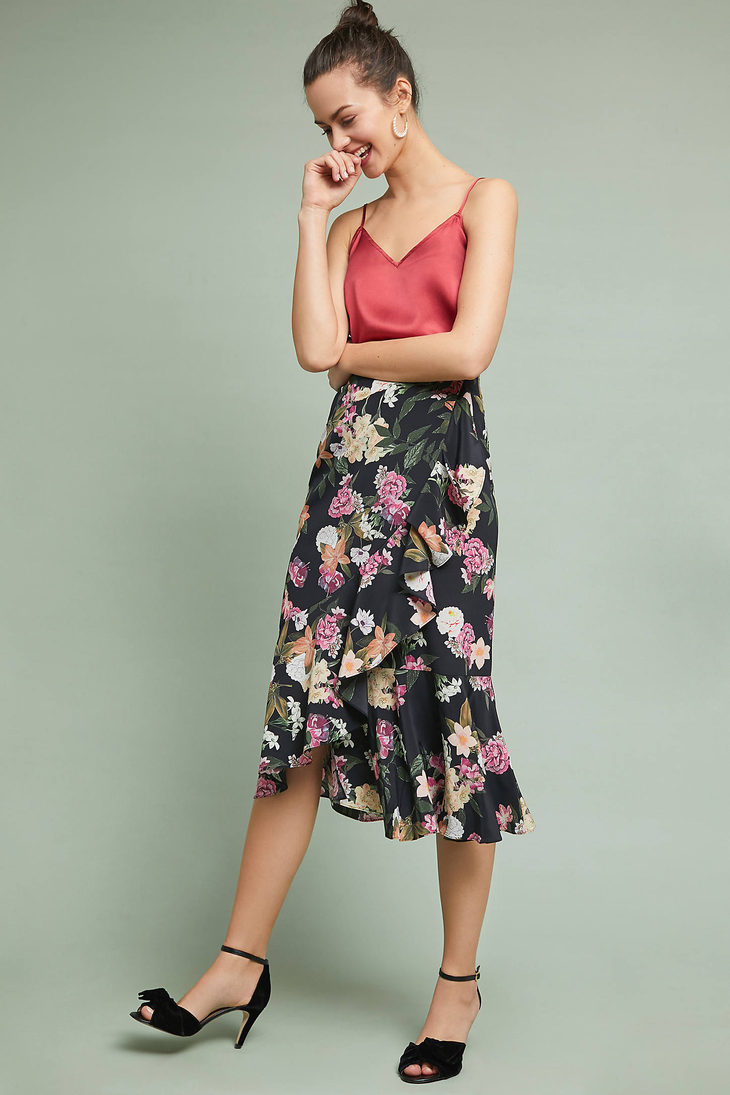Cassidy Ruffled Midi Skirt