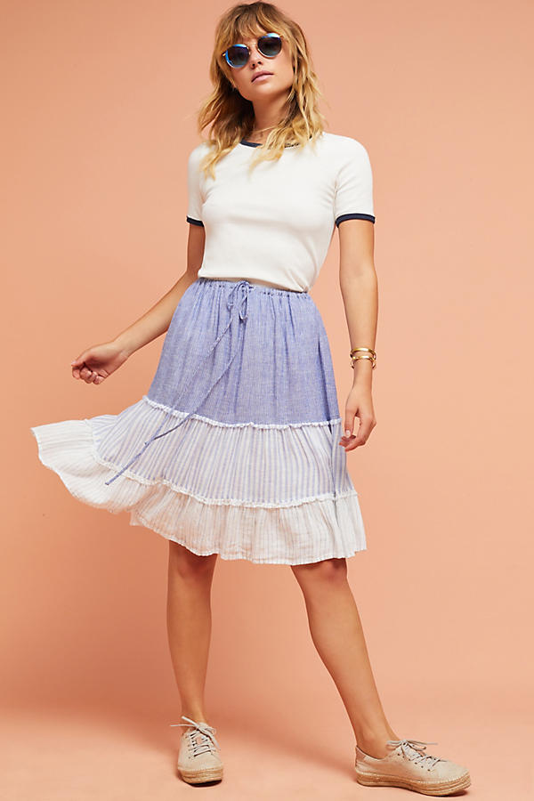 Slide View: 1: Rails Tiered Patchwork Skirt