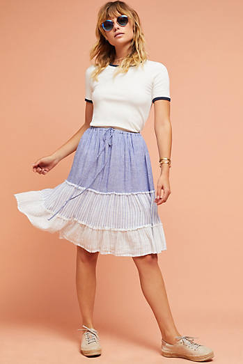 Rails Tiered Patchwork Skirt