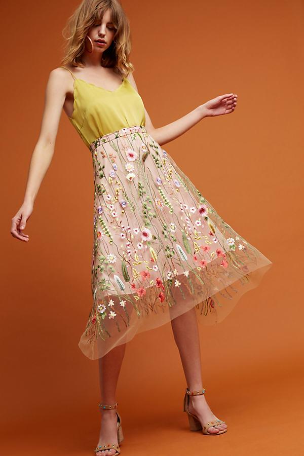 Waverly Garden Skirt - Pink, Size Uk 10