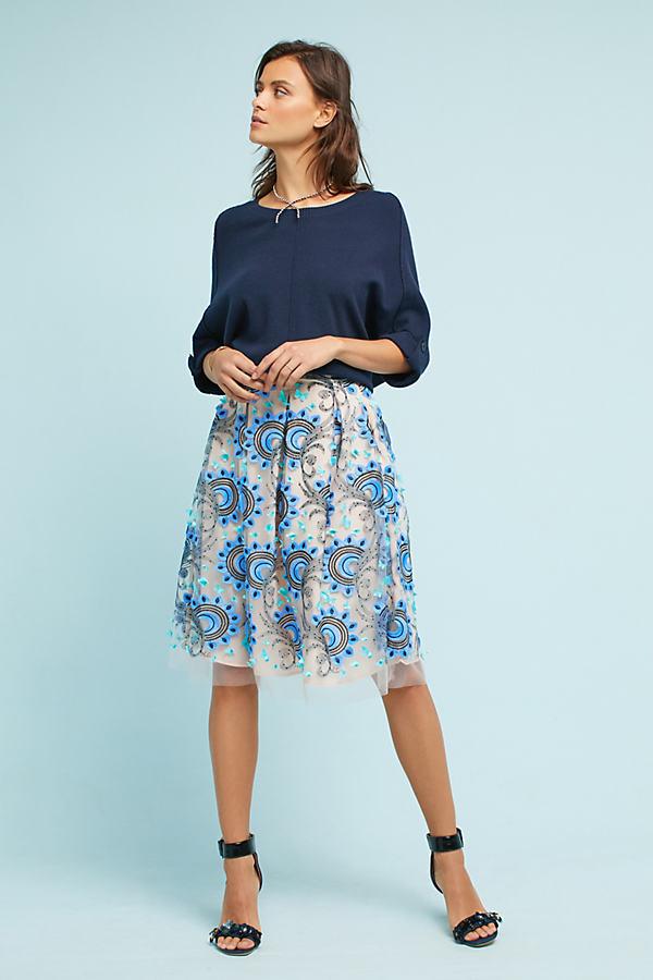 Solstice Tulle Skirt - Sky, Size Uk 6