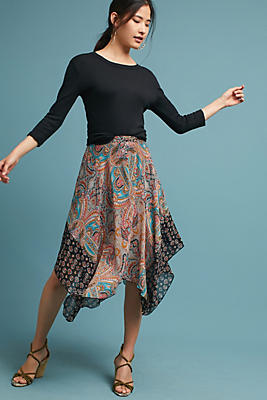 Slide View: 1: Jazmin Paisley Skirt