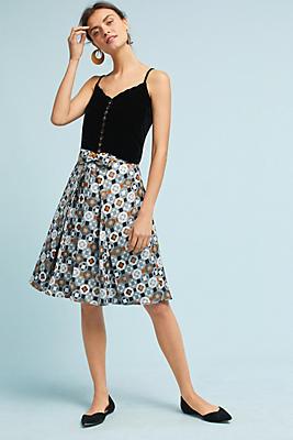 Slide View: 1: Geo Jacquard Skirt