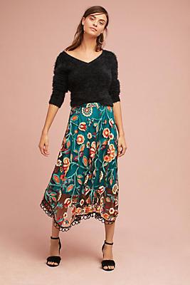Slide View: 1: Soleil Floral Skirt