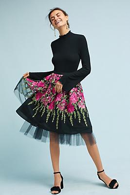 Slide View: 1: Garden Party Tulle Skirt