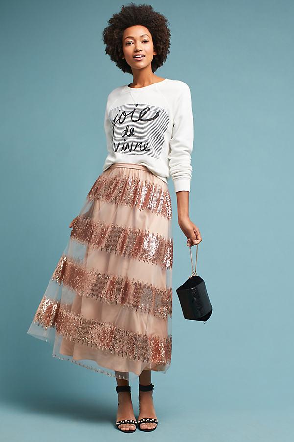 Revelry Maxi Skirt - Pink, Size Uk 14