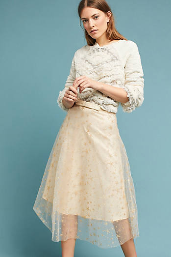 Metallic Star Tulle Skirt